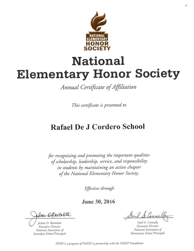 national honor society certificate template - cordero community home